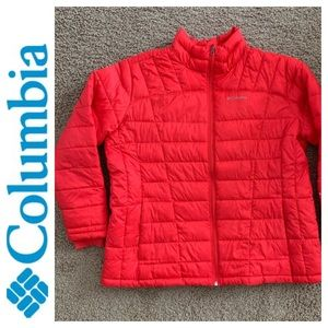Columbia Puffer Jacket Red Insulated Jacket. 2X